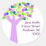 Dotberry Tree Address Label Classic Round Sticker