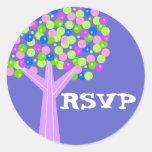 Dotberry Tree RSVP Classic Round Sticker