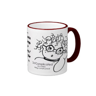 DotComplicated(TM) -she makes things complicated! Ringer Mug