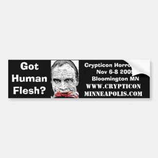 DOTD Bub, Crypticon Horror Con Nov 6-8 2009Bloo... Bumper Sticker