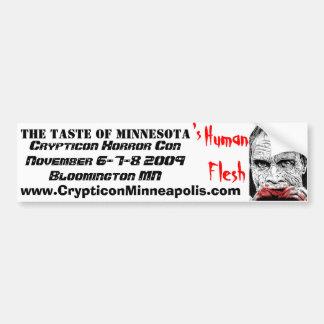DOTD Bub, The taste of Minnesota, 's, HumanFles... Bumper Sticker