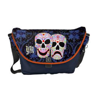 DOTD Comedy-Tragedy Skulls messenger bag