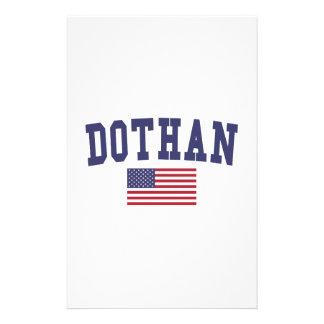 Dothan US Flag Stationery