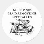 dotor,surgeon,physiian joke design round sticker