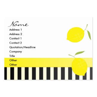 Dots an Lemons Bicycle Large Business Card