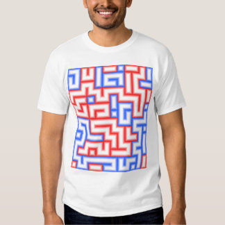 Dots and Boxes (Squares) - Red & Blue / 12x14 Shirt