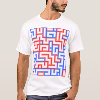 Dots and Boxes (Squares) - Red & Blue / 12x14 T-Shirt