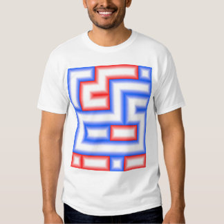 Dots and Boxes (Squares) - Red & Blue / 6x7 T-shirt