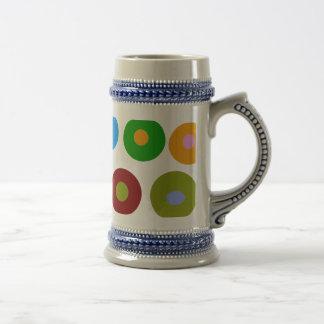 Dots and Circles Coffee Mugs