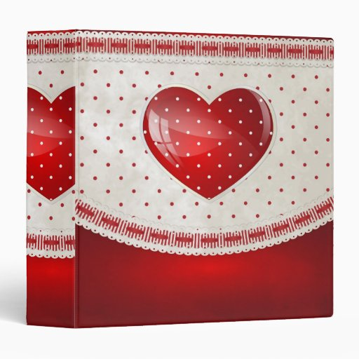 Dots and Hearts Binders