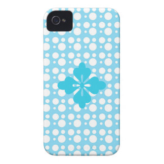 dots and light blue color iPhone 4 cover