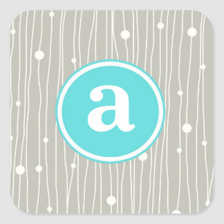 Dots and Lines Square Sticker