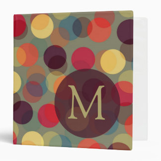 Dots And Monogram binder