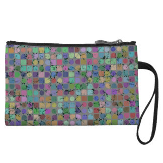 DOTS AND SQUARES Clutch/Accessory Bag