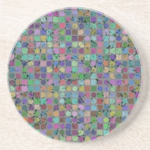 DOTS AND SQUARES Coaster