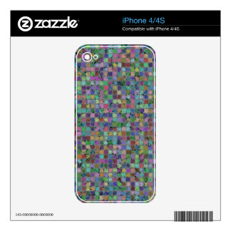DOTS AND SQUARES iPhone Skin Decal For iPhone 4