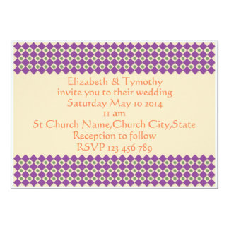 Dots and Squares Wedding Invitation Template