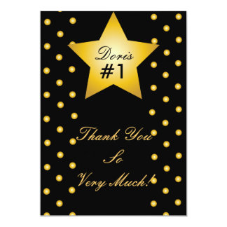 Dots And Star Thank You Card- Customize Card