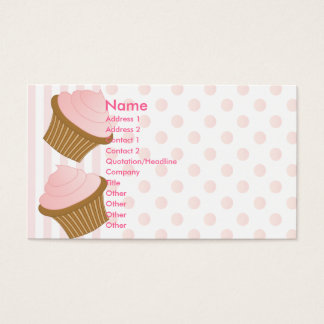 Dots and Stripes and Cupcakes Business Card