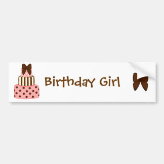 Dots and Stripes Cake Bumper Stickers