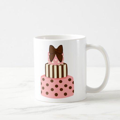 Dots and Stripes Cake Classic White Coffee Mug