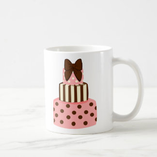 Dots and Stripes Cake Coffee Mug
