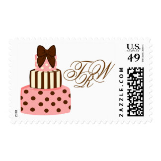 Dots and Stripes Cake Postage
