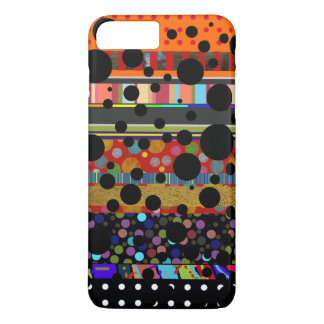 dots and stripes different patterned iPhone 8 plus/7 plus case