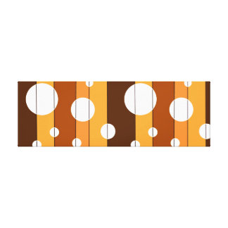 Dots and Stripes in AutumnShades Canvas Print