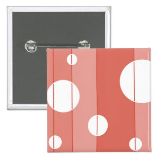 Dots and Stripes in BarnRed Button