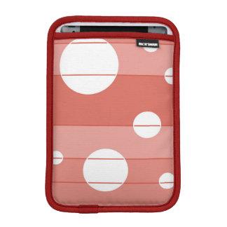 Dots and Stripes in BarnRed iPad Mini Sleeve