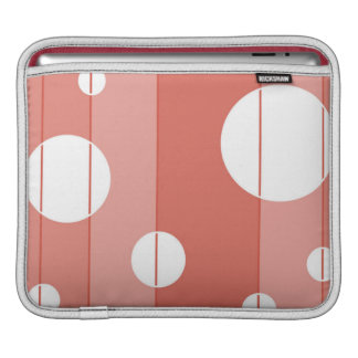 Dots and Stripes in BarnRed Sleeve For iPads