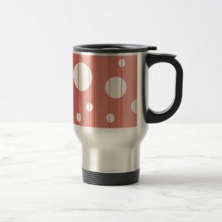 Dots and Stripes in BarnRed Travel Mug