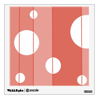 Dots and Stripes in BarnRed Wall Sticker