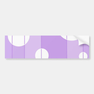 Dots and Stripes in FairytalePurple Bumper Sticker