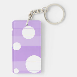 Dots and Stripes in FairytalePurple Keychain
