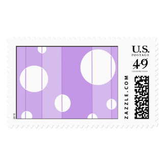 Dots and Stripes in FairytalePurple Postage Stamps