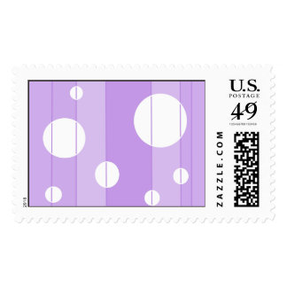 Dots and Stripes in FairytalePurple Stamp