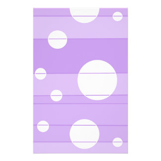 Dots and Stripes in FairytalePurple Stationery Design