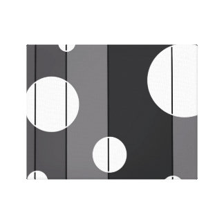 Dots and Stripes in Grey Canvas Print