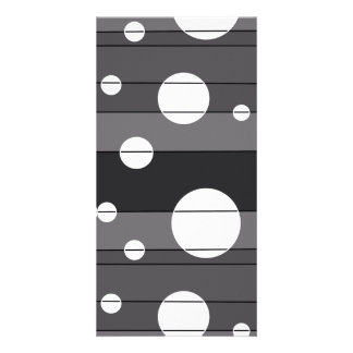 Dots and Stripes in Grey Card