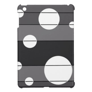 Dots and Stripes in Grey iPad Mini Covers