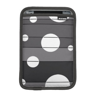Dots and Stripes in Grey iPad Mini Sleeve