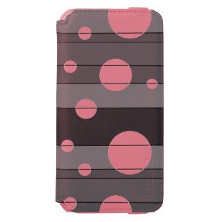 Dots and Stripes in Grey iPhone 6/6s Wallet Case