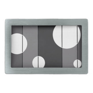 Dots and Stripes in Grey Rectangular Belt Buckle