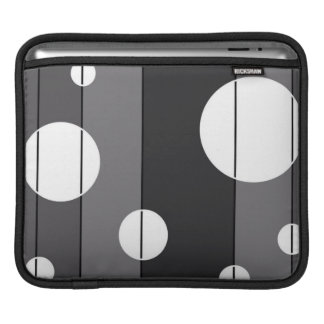 Dots and Stripes in Grey Sleeve For iPads