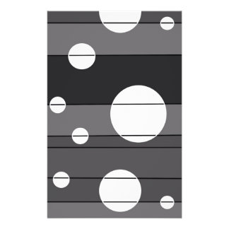 Dots and Stripes in Grey Stationery Paper