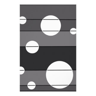 Dots and Stripes in Grey Stationery Design