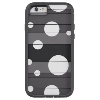 Dots and Stripes in Grey Tough Xtreme iPhone 6 Case