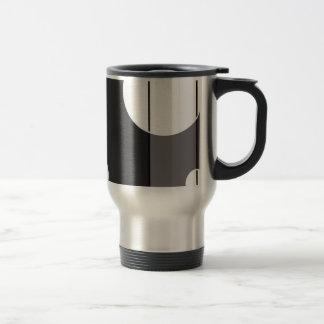 Dots and Stripes in Grey Travel Mug